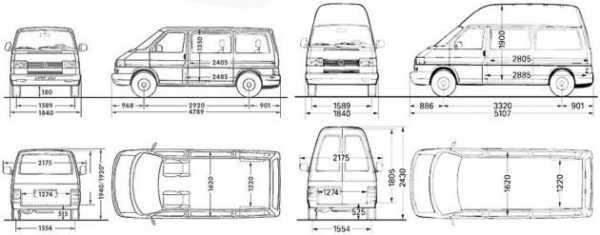 Размеры кузова фольксваген транспортер конвейер для разделки рыбы
