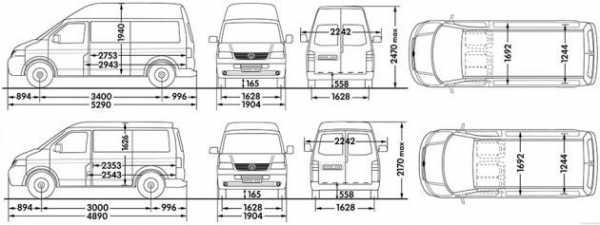 объем кузова транспортер